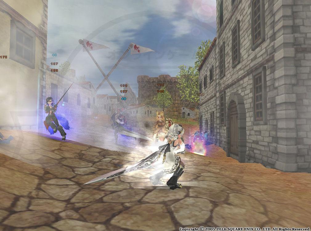 ファンタジーアース ゼロ(FEZ) 戦争バトル中のスキル発動スクリーンショット