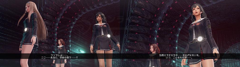 スクールガールゾンビハンター (SG/ZH School Girl/Zombie Hunter) PC 学校の地下にある何かを発見したシナリオスクリーンショット