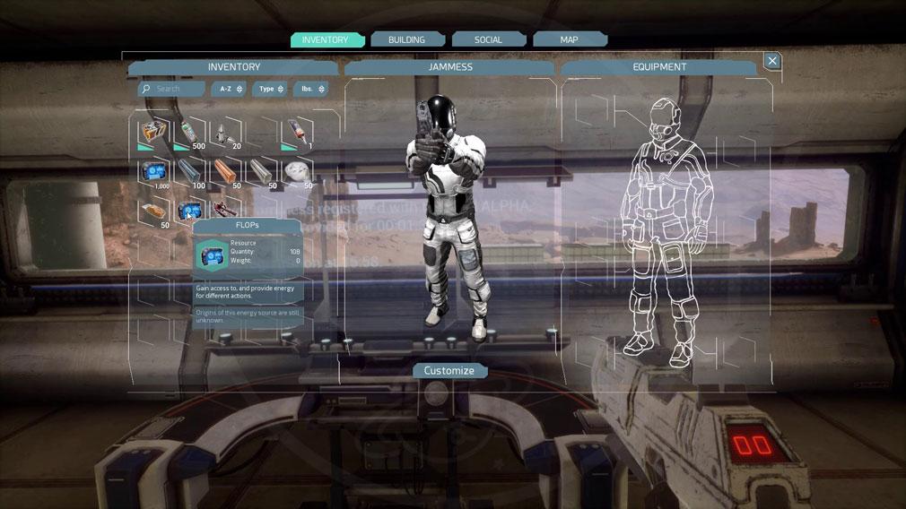 Memories of Mars(メモリースオブマーズ) PC キャラクターカスタマイズ画面スクリーンショット