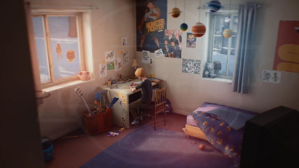 キャプテンスピリット(The Awesome Adventures of Captain Spirit) PC いつも一人でいるクリスが部屋で遊んでいるスクリーンショット