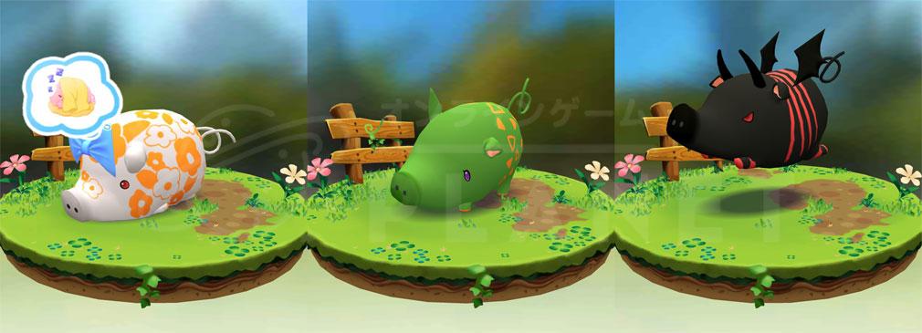 くりぷ豚(トン) Crypt Oink PC 様々な色や形を持つ不思議な生物『くりぷ豚』たちのイメージ