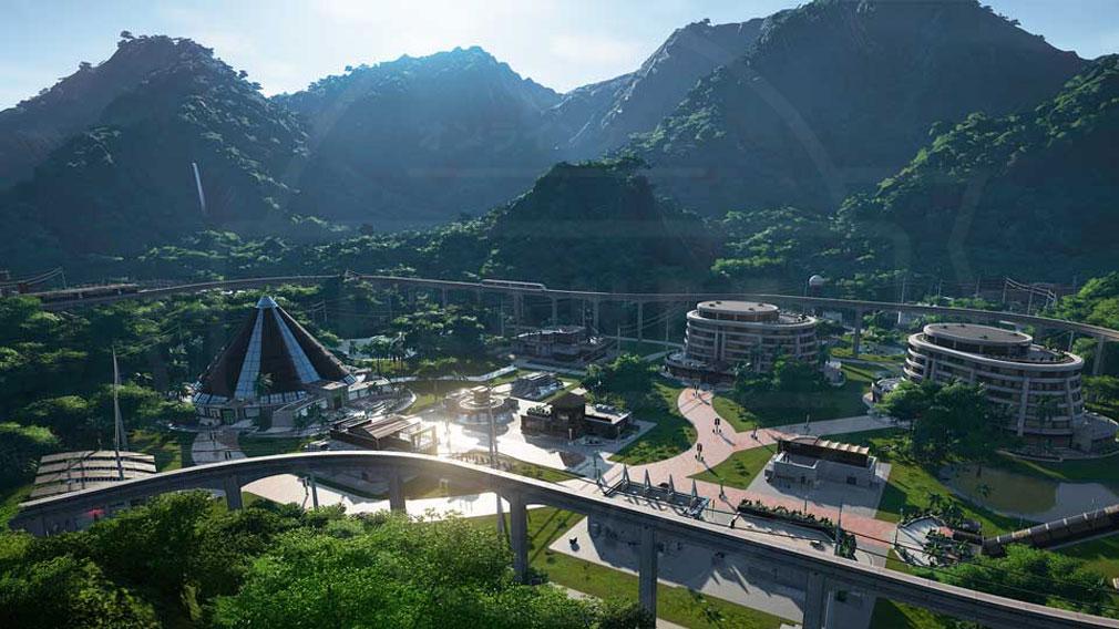 ジュラシック ワールド エボリューション(Jurassic World Evolution) PC 舞台となる通称五つの死と呼ばれる『ラス・シンコ・ムエルテス諸島(Las Cinco Muertes)』スクリーンショット