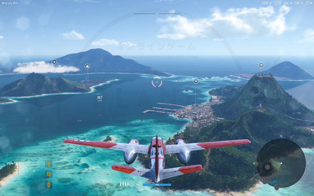 World of Warplanes (WoWP) ワールドオブウォープレインズ 飛行スクリーンショット