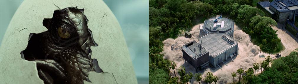 ジュラシック ワールド エボリューション(Jurassic World Evolution) PC 生物工学による恐竜生成、恐竜を封じ込める施設や研究施設スクリーンショット