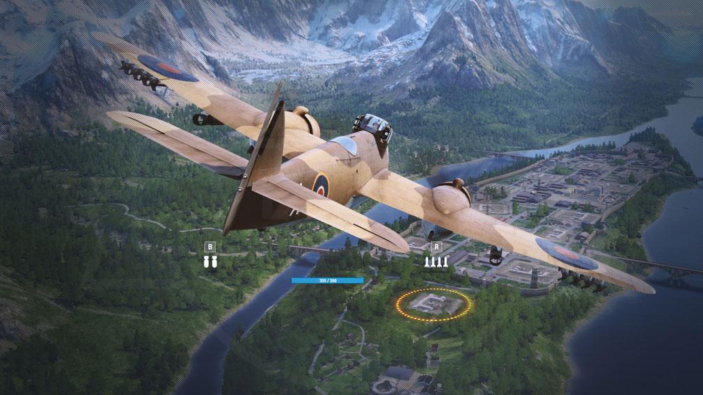 World of Warplanes (WoWP) ワールドオブウォープレインズ 爆弾を運んでいる航空機スクリーンショット