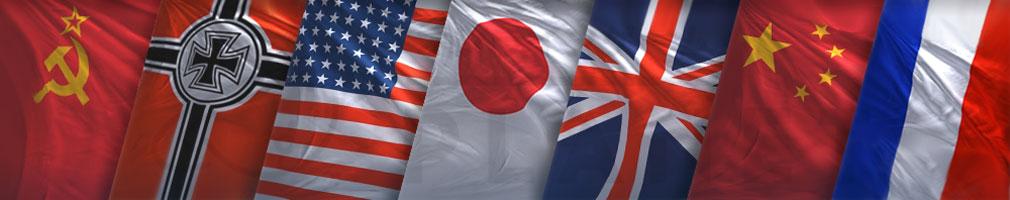 World of Warplanes (WoWP) ワールドオブウォープレインズ ドイツ、ソビエト、アメリカ、日本、イギリス、中国、フランス計7カ国の登場航空機国旗