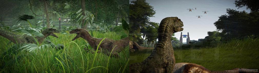 ジュラシック ワールド エボリューション(Jurassic World Evolution) PC 恐竜同士の暴動スクリーンショット