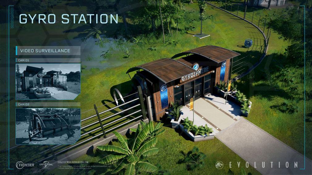 ジュラシック ワールド エボリューション(Jurassic World Evolution) PC 『ジャイロステーション』スクリーンショット