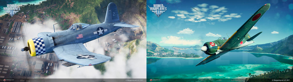 World of Warplanes (WoWP) ワールドオブウォープレインズ アメリカ、日本航空機スクリーンショット