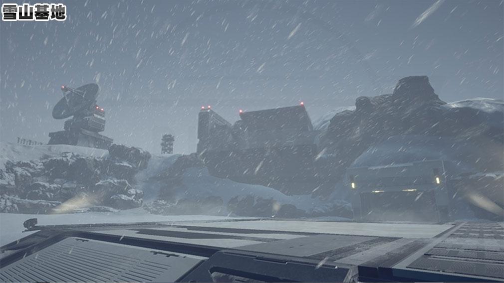 New ガンダムブレイカー PC ステージ『雪山基地』スクリーンショット