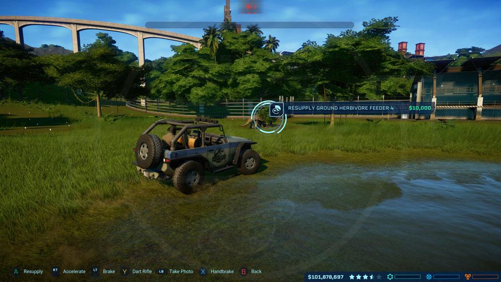 ジュラシック ワールド エボリューション(Jurassic World Evolution) PC 現場管理スクリーンショット