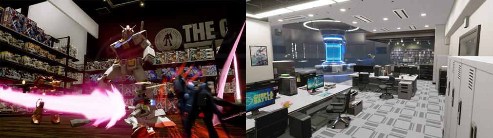 New ガンダムブレイカー PC ステージ『ガンダムベース東京』、『工作室』スクリーンショット
