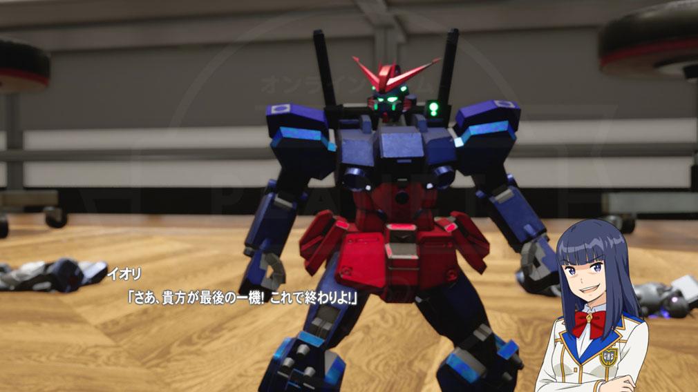 New ガンダムブレイカー PC 『コウラ イオリ(CV:伊瀬茉莉也)』ガンプラスクリーンショット