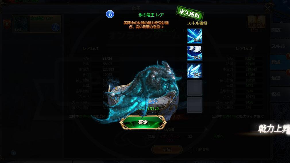 騎士と翼のフロンティア(キシツバ) 『氷の竜王』永久所有スクリーンショット