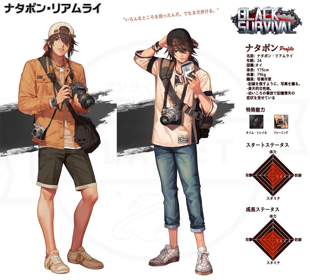 Black Survival(ブラックサバイバル)ブラサバ キャラクター【実験体No.17M-RFT30『ナタポン・リアムライ』】イメージ