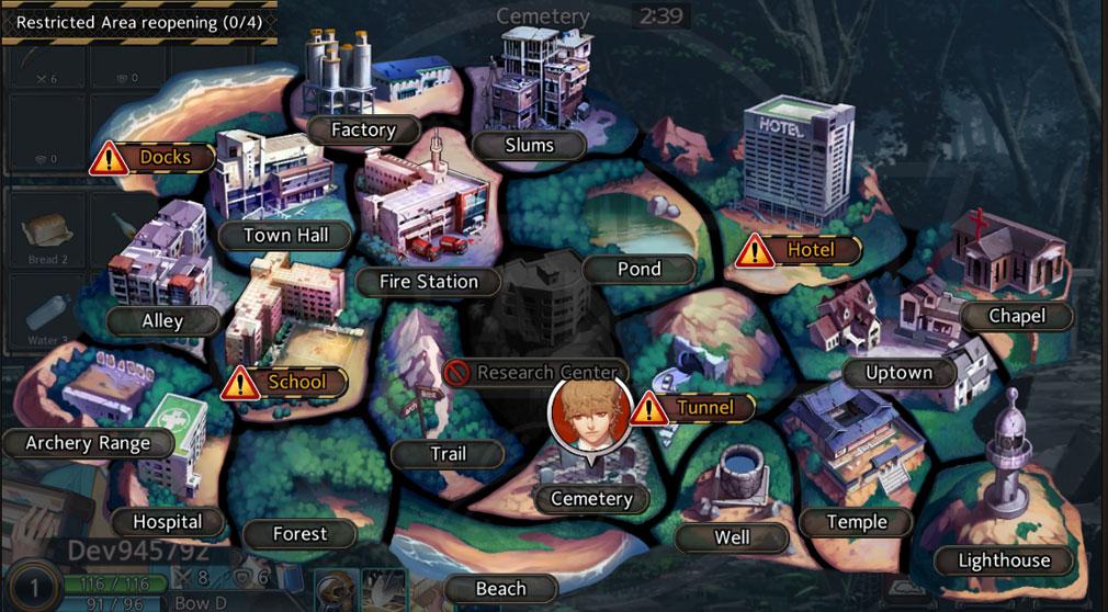 Black Survival(ブラックサバイバル)ブラサバ エリアマップスクリーンショット