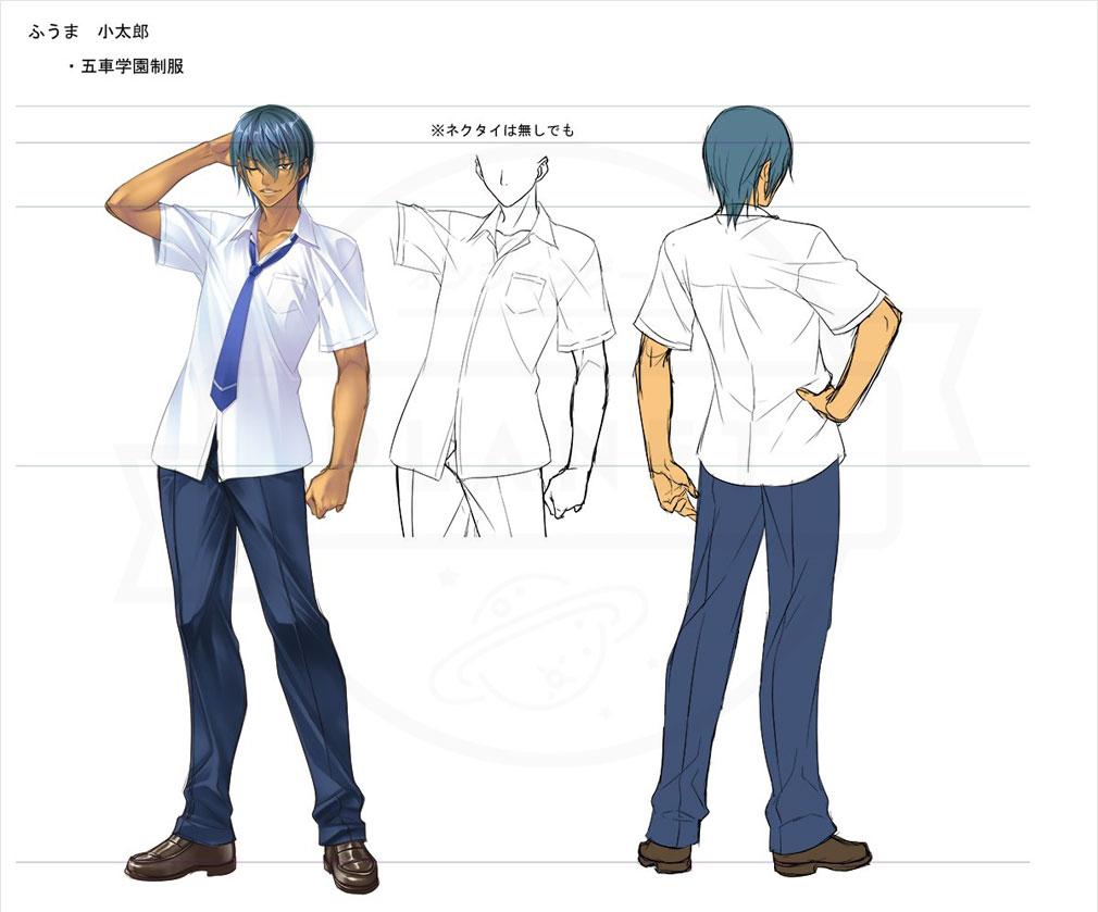 対魔忍RPG 一般版 主人公 ふうま小太郎のビジュアルアートイメージ