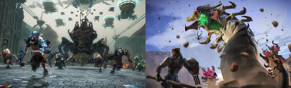 Skyforge(スカイフォージ) チーム戦、巨大レイドボススクリーンショット