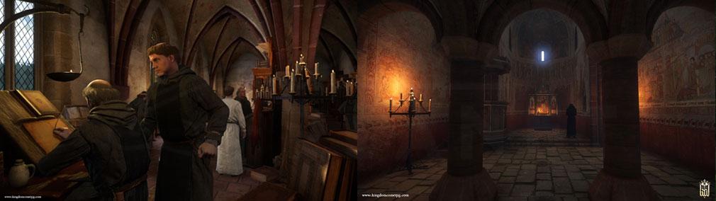 キングダムカム・デリバランス(Kingdom Come: Deliverance) 修道院ミッション、修道院内スクリーンショット