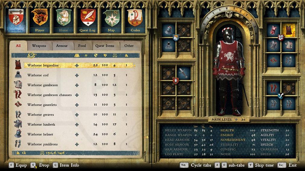 キングダムカム・デリバランス(Kingdom Come: Deliverance) 防具と防護服を組み合わせるスクリーンショット