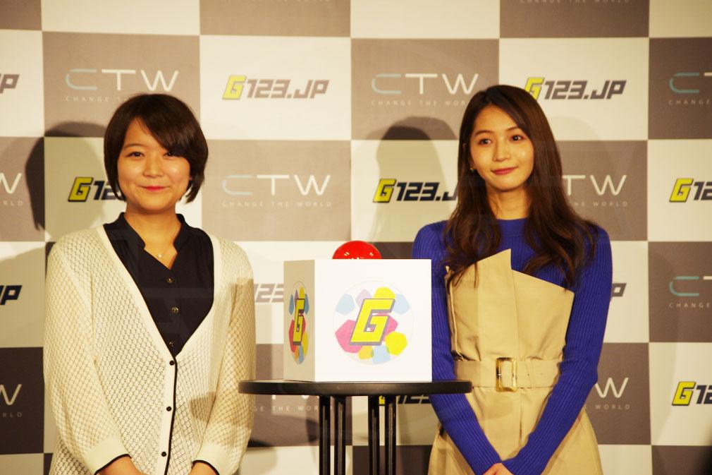 G123.jp CTW プラットフォーム事業部 ゼネラルマネージャー大友氏と公式アンバサダー傳谷さんの取材写真