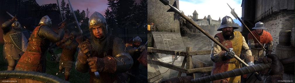 キングダムカム・デリバランス(Kingdom Come: Deliverance) 剣、槍など様々な武器で戦闘するスクリーンショット