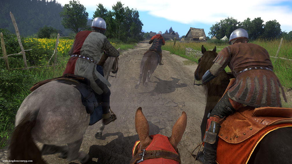 キングダムカム・デリバランス(Kingdom Come: Deliverance) 馬で敵を追うスクリーンショット