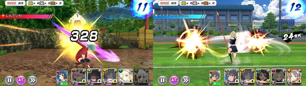 シノビマスター 閃乱カグラ NEW LINK(シノマス) 忍法単体攻撃、複数攻撃スキルスクリーンショット