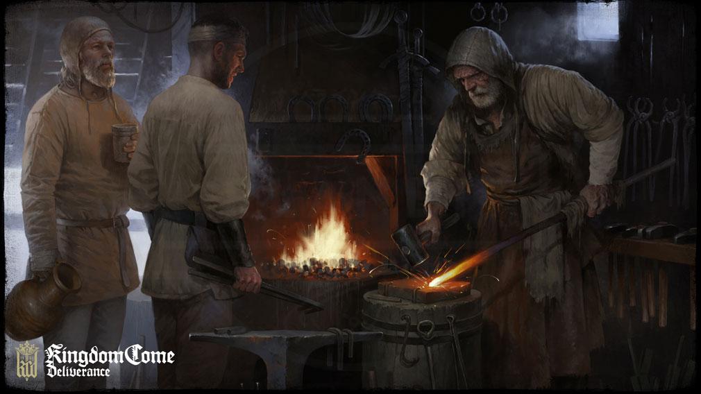 キングダムカム・デリバランス(Kingdom Come: Deliverance) アートワーク『鍛冶屋』イメージ