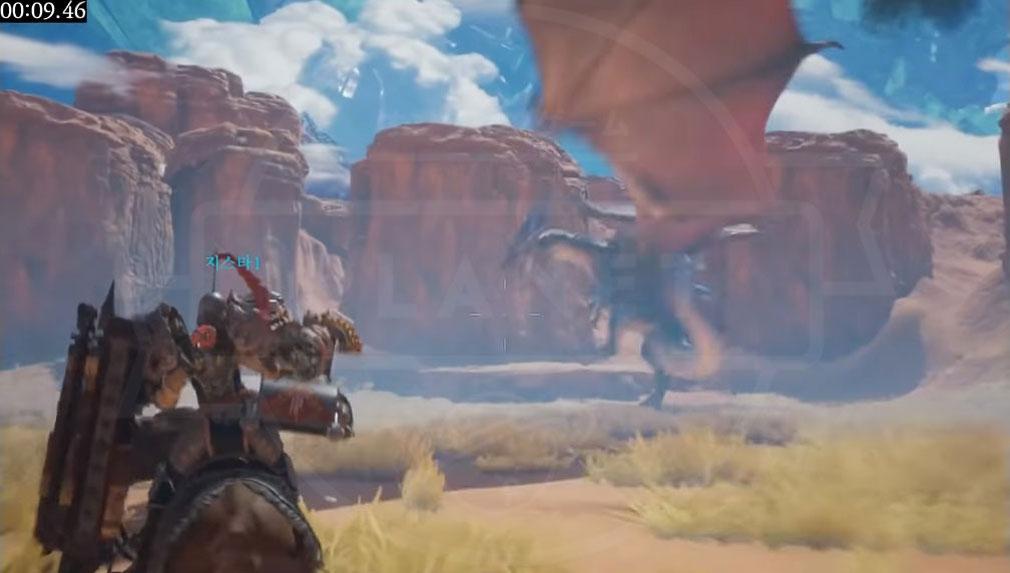 Dragonhound(ドラゴンハウンド) 大型ドラゴンとのバトルスクリーンショット