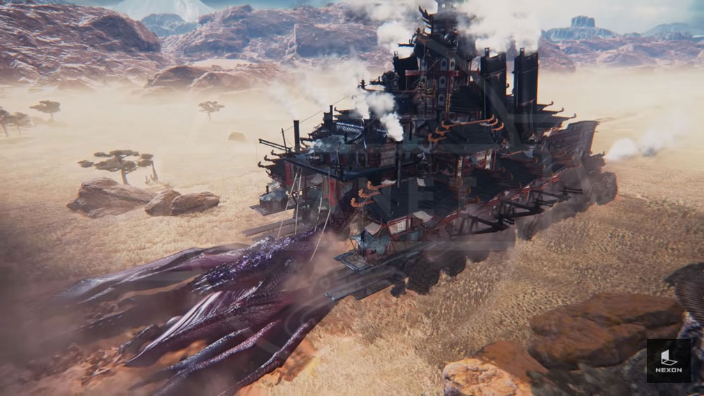 Dragonhound(ドラゴンハウンド) 戦車のような動く村イメージ