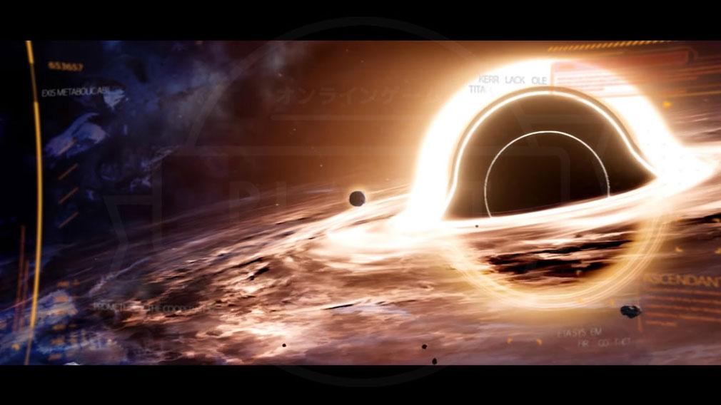 ASCENDANT ONE(アセンダント ワン) ブラックホールが照らす『エタ』恒星系の世界観イメージ