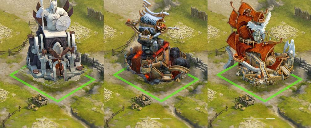 ヴァイキング -クランの戦争- 建設物イメージ