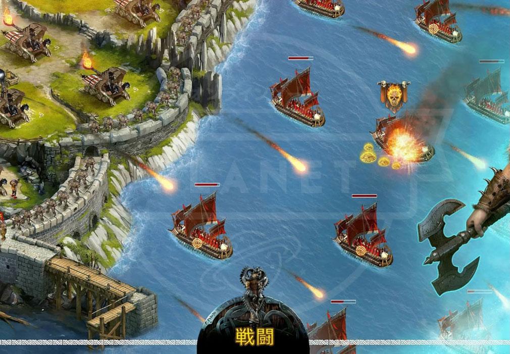 ヴァイキング -クランの戦争- 戦闘紹介イメージ