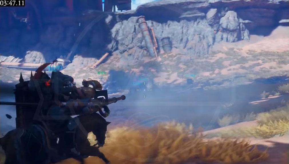 Dragonhound(ドラゴンハウンド) モンスターを照準に合わせて戦闘するスクリーンショット