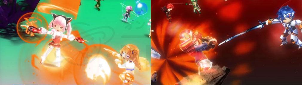 暁のブレイカーズ PC バトルアクションスクリーンショット