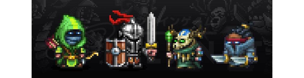 Survived By 様々なクラスに設定可能なプレイヤーキャラクターイメージ