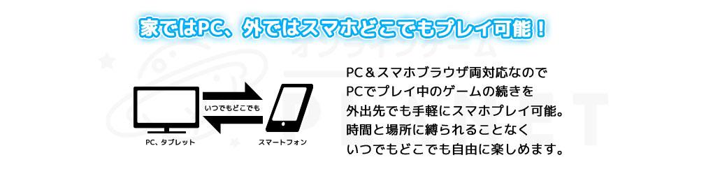 アバタードライブ:Re(アバドラ) PC PCとスマホの両ブラウザに対応している紹介イメージ