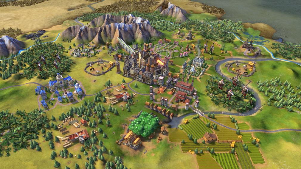 シドマイヤーズ シヴィライゼーション6 (Sid Meier's Civilization VI)Civ6 PC カートゥーン調のグラフィックスクリーンショット