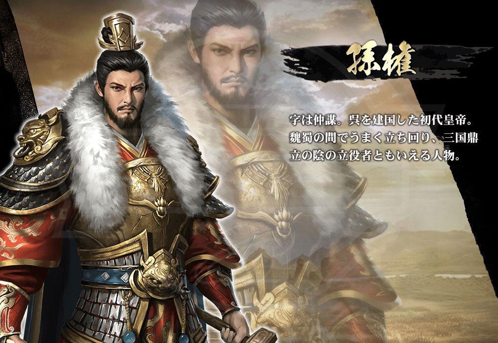 天下三分 -果て無き戦場- PC キャラクター『孫権』紹介イメージ