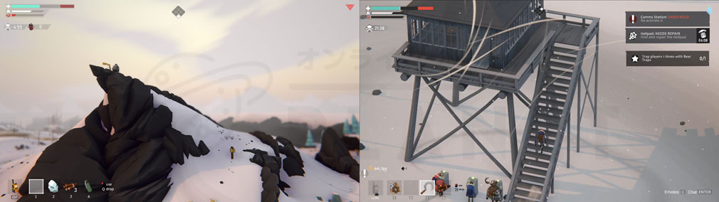 Project Winter PC 調査完了、施設調査スクリーンショット