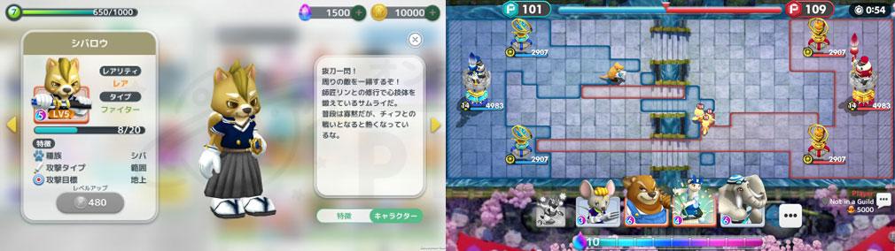 ウィムジカル ウォー(Whimsical War) PC キャラクター詳細、レポのバトルスクリーンショット