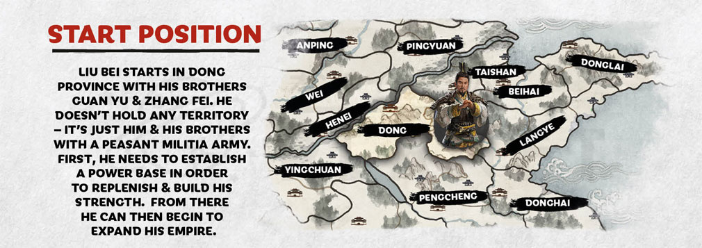 Total War: THREE KINGDOMS (Win PC) 『劉備』のスタート地点