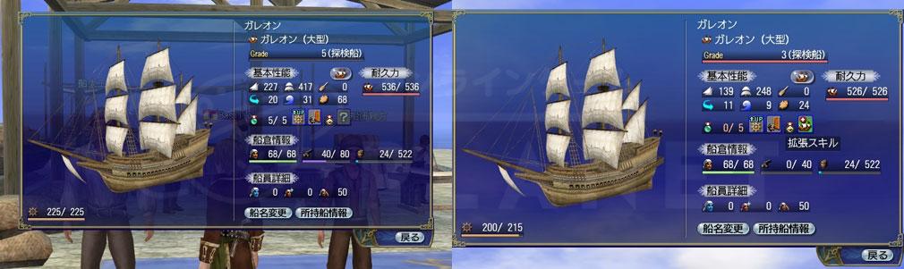 大航海時代 Online Lost Memories (ロスト メモリーズ) 『シップリビルド上限解放』、オプションスキルを付与できる数も増加したスクリーンショット