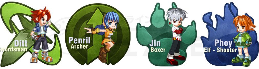 ミックスマスターJP (MIX MASTER) 4体のキャラクター『ディト (Ditt)』『ペンリル (Penlil)』『ジン (Jin)』『ポイ (Phoy)』イメージ
