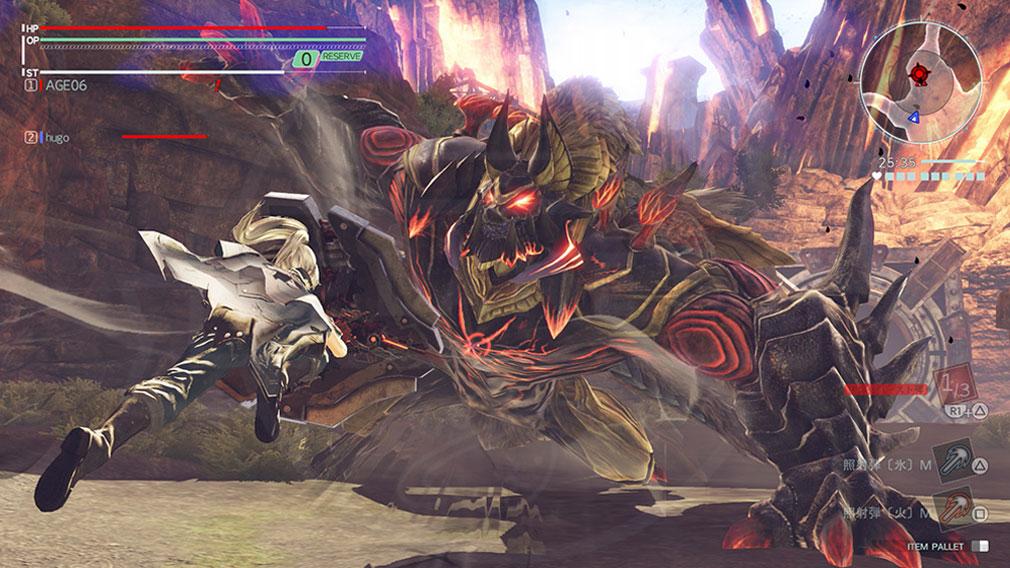 GOD EATER 3(ゴッドイーター3) GE3 PC 『バーストアーツ』を駆使してアラガミを討伐するスクリーンショット