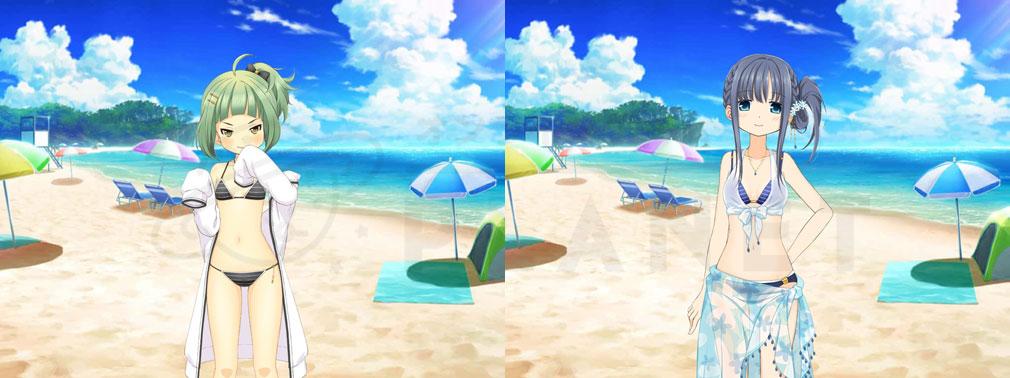 マギアレコード(マギレコ) 魔法少女まどか☆マギカ外伝 PC版 水着バージョンのキャラクタースクリーンショット