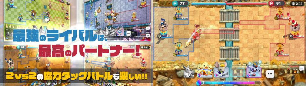 ウィムジカル ウォー(Whimsical War) PC バトル紹介イメージ、バトルスクリーンショット