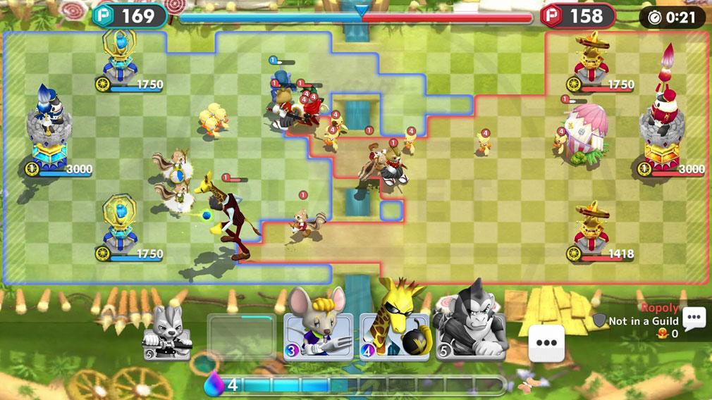 ウィムジカル ウォー(Whimsical War) PC ブラウザ版バトルスクリーンショット