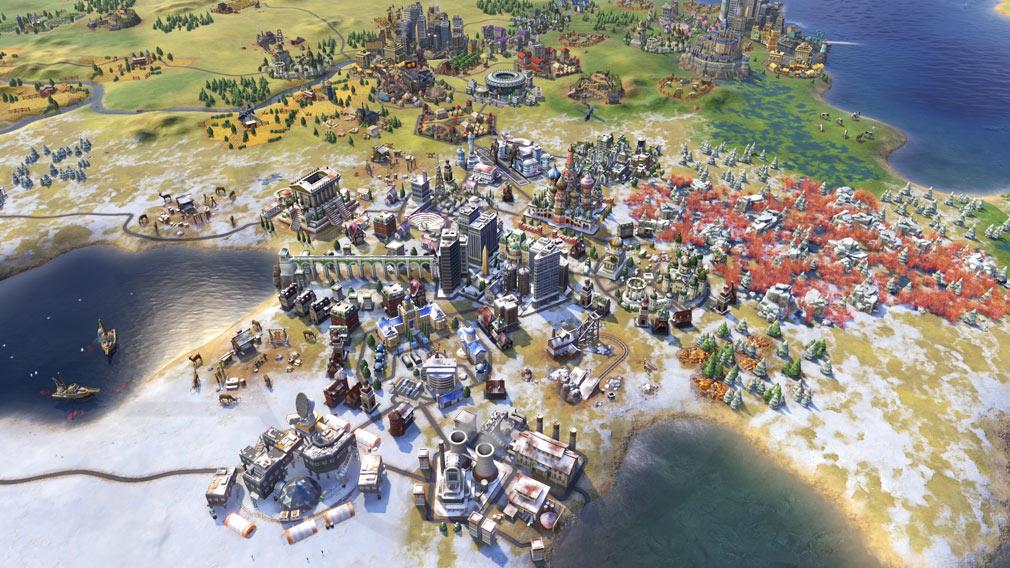 シドマイヤーズ シヴィライゼーション6 (Sid Meier's Civilization VI)Civ6 PC マップ上で広がりを見せる帝国スクリーンショット
